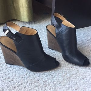 Coach Lindsey Stacked Wedge Mules